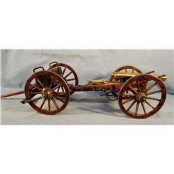 """Dahlgren 61 model cannon & limber, 27"""" l x 7"""" h"""