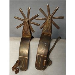 California-style etched iron spurs