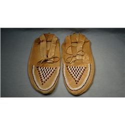 Sioux beaded moccasins, front beaded only,  Standing Rock Reservation, N. Dak.