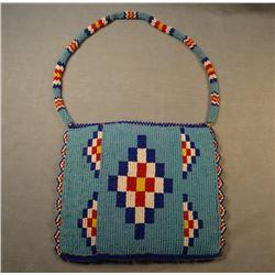 """Sioux beaded purse, 7"""" x 6"""""""