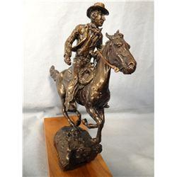 """Dwyer, Anna bronze, Horse & Rider, 9"""" h x 8"""" w, # 16/20, 1972"""