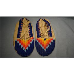 Arapahoe full beaded moccasins, XXL, Wind River Reservation, WY.