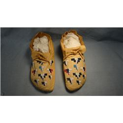 Ute moccasins, beaded front
