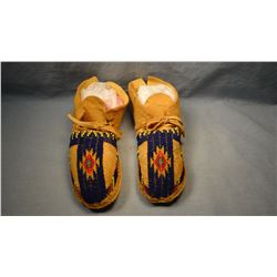 Northern Cheyenne 1/2 beaded moccasins