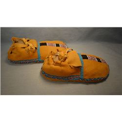 Shoshone partially beaded moccasins, Wind River Reservation, WY. LN 25