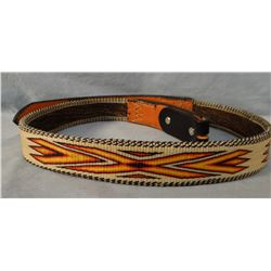 "Hitched horsehair belt, 42"" , MT State Prison, Deer Lodge,"
