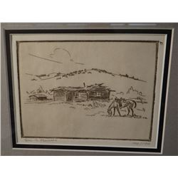Powell, Ace (1912-1978) 7 etchings, all #100/100, found in Jay Moynahan Etching Catalog #2