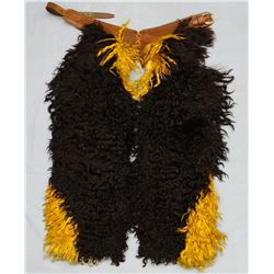 George Lawrence 2-tone angora chaps, black & gold