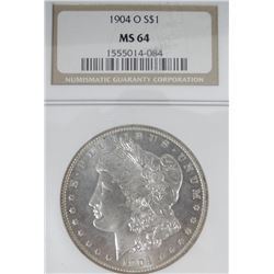 1904 O Morgan dollar, NGC MS 64