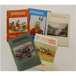 Montana Magazine of Western History magazines, 1955-1970, 40 +/- magazines