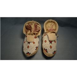 Northern Cheyenne full beaded moccasins.