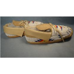 Sioux full beaded moccasins.