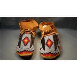 Arapahoe full beaded moccasins, from Wind River Reservation, WY.