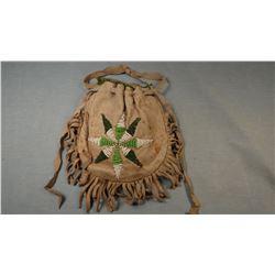 Cheyenne old bead bag, ca. 1930's, Morning Star.