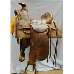 Barret & Jacky loop-seat slick fork saddle, Butte, Montana Territory. Very rare saddle in great cond