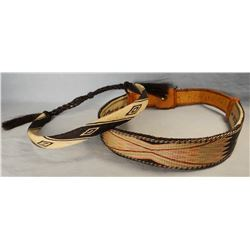 (2) hitched horsehair hat bands
