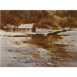 """Bohler, Joe, original watercolor, Winter Moods, 7 1/2"""" x 10"""""""