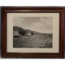 "Huffman, L. A. original photo, Officers Quarters-Fort Keogh, M. T., 1880, 7 1/2"" x 9"", framed"