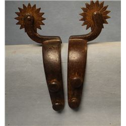 Buerman's OK spurs, a one piece design with 4 strap pins.