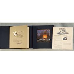 """Lyman, Steven (1962-1996) Fire Light Chapbook with signed print, Fire Light, 6"""" x 6"""", 9294/10,000"""
