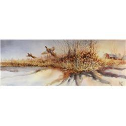 "Capser, Mike signed & framed print, Sunrise Symphony, 12"" x 31"", 943/999"
