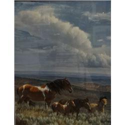"Glazier, Nancy, signed & framed print, Whispering Wind, 22"" x 28"""