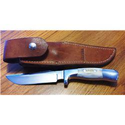 """Ruana knife, 5"""" sticker w/sheath"""