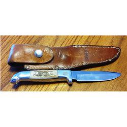 """Ruana knife, 4"""" sticker, w/sheath"""