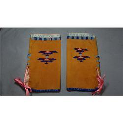 "Ladies buckskin leggins, 7"" x 11"", Teton Sioux"
