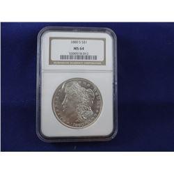 1880 S Morgan dollar, NGC MS 64