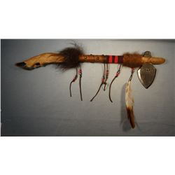 """Tomahawk, 23"""", deer hoof trim, Chippewa/CreeMany Trails Collection"""