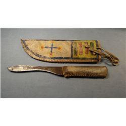 Rawhide sheath w/older knife