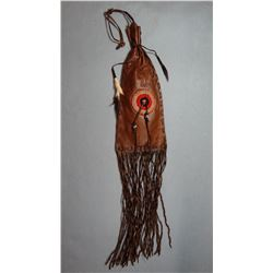 """(2) Tobacco bags, Many Trails collection, 25"""", Cree"""