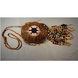 "Turtle shell purse, 6"" w, Apache Nation, Carl Pierce"
