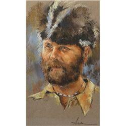 Anderson pastel, Frontier trapper, pastel