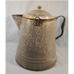 Granite ware camp coffee pot