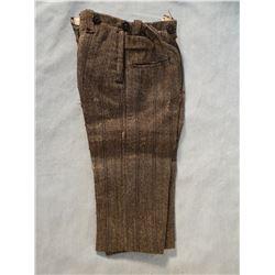 """Salesman sample wool trousers, 15"""""""