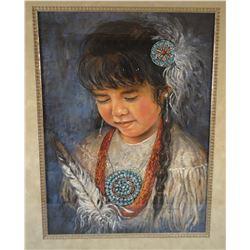 "Gardipee, Shelly, pastel, Indian Girl,  1994, 16"" x 20"""