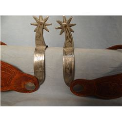 Prison-made light spurs, engraved