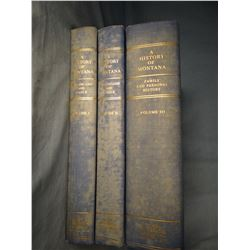 Burlingame & Toole, History Of Montana,  3 vols., 1957, near fine