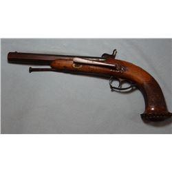 Custom cap/ball belt pistol,.60 cal., made 1850