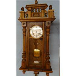 Antique Junghans walnut wall clock