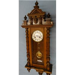 Antique Junghans walnut cased wall clock