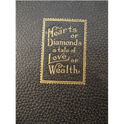 Hearts or Diamonds card game case w/deck of cards and poker chips