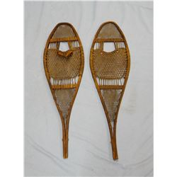 Vintage snowshoes, rawhide strung and Jumbo Brand rifle scabbard, Dallas, TX