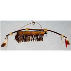 Bow with quiver and 2 arrows, Chippewa/Cree tribes, new