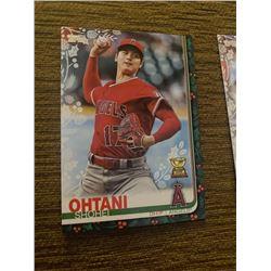 Shohei Ohtani topps holiday green