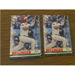 Cody Bellinger topps holiday green with SP