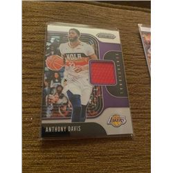 Anthony Davis Prizm Jersey Card