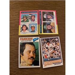 Baseball Cards Lot jim hunter